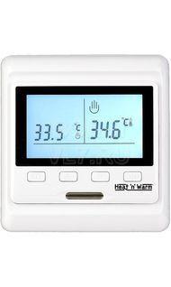 Терморегулятор сенс. в/у 3,6кВт датчик пола воздуха (анти лед) белый Grand Meyer HW500