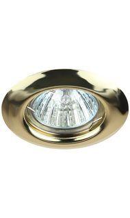 Светильник штампованный MR16 золото ЭРА ST3 GD