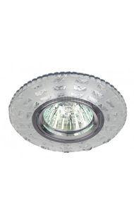 Светильник декор. с подсветкой MR16 проз ЭРА DK LD8 SL/WH