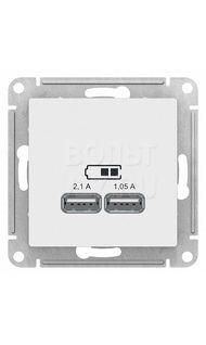 Розетка USB белая AtlasDesign Schneider ATN000133