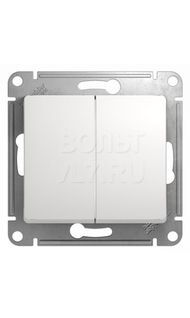 Переключатель 2кл. сх.6 белый Glossa Schneider GSL000165