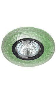 Светильник декор. с подсветкой зеленый GU5.3 ЭРА DK LD1 GR