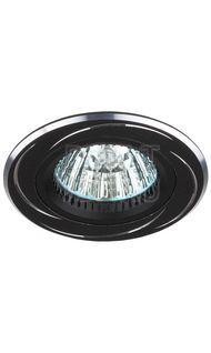 Светильник алюминиевый MR16 черный/хром ЭРА KL34 AL/BK