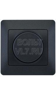 Светорегулятор поворотный 300Вт антрацит Glossa Schneider GSL000734