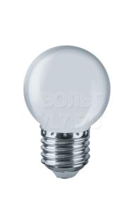 Лампа светодиодная 1Вт 230В бел. E27 G45 Navigator 61243 NLL-G45-1-230-W-E27