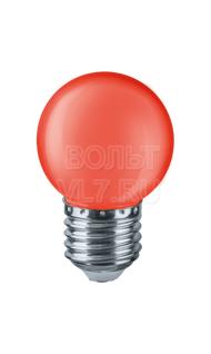 Лампа светодиодная 1Вт 230В красн. E27 G45 Navigator 71827 NLL-G45-1-230-R-E27