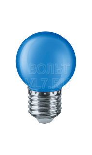 Лампа светодиодная 1Вт 230В син. E27 G45 Navigator 71829 NLL-G45-1-230-B-E27