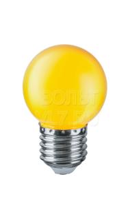 Лампа светодиодная 1Вт 230В желт. E27 G45 Navigator 71830 NLL-G45-1-230-Y-E27
