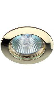 Светильник литой простой MR16 золото ЭРА KL1 GD