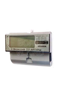 Счетчик многотарифный 3ф 5(60)А 380В ЖКИ Меркурий 231-ART-01Ш