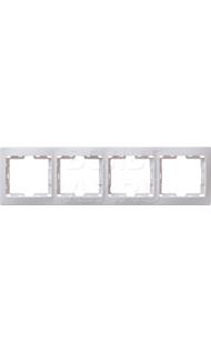 Рамка 4м гориз белая КВАРТА ИЭК EMK40-K01-DM