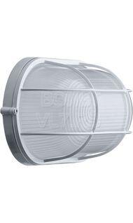 Светильник овал с решеткой 100Вт (НПБ 1202) Navigator NBL-O2-100-E27/WH