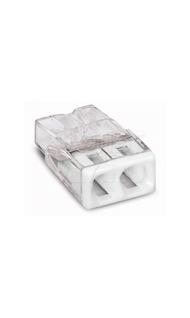 Клемма 2х2,5кв.мм с пастой прозрачный WAGO 2273-242