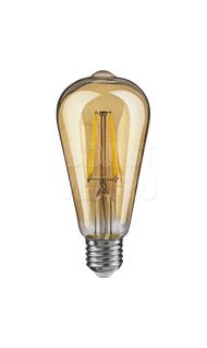 Лампа светодиодная ВИНТАЖ 4Вт 2500K Е27 Navigator NLL-F-ST64-4-230-2.5K-E27-PRYAMAY
