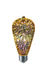 Лампа светодиодная 3D 4Вт 2500K Е27 Navigator NLL-3D-ST64-4-230-E27