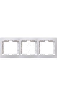 Рамка 3м гориз белая КВАРТА ИЭК EMK30-K01-DM