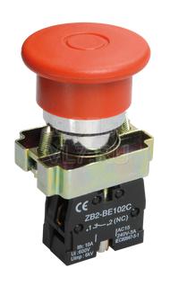 Кнопка грибок аварийная фикс. красная LAY5-BT42 ИЭК BBG80-BT-K04