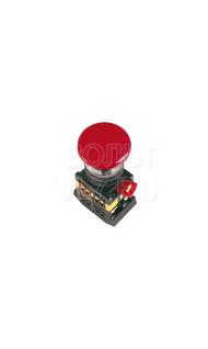 Кнопка грибок красная с фиксатором 1з+1р AEAL-22 ИЭК BBG60-AEAL-K04