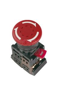 Кнопка грибок красная AE-22 ИЭК BBG10-AE-K04