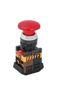 Кнопка грибок красная AELA-22 ИЭК BBG20-AELA-K04