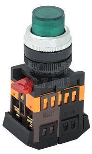 Кнопка 1з+1р зеленая ABLFP-22 ИЭК BBT20-ABLFP-K06