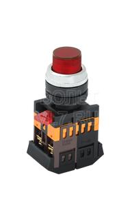 Кнопка 1з+1р красная ABLFP-22 ИЭК BBT20-ABLFP-K04