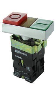 Кнопка BW8465 сдвоенная с подсветкой 1з+1р TDM SQ0704-0057