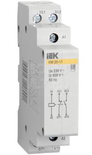 Контактор модульный КМ20-20 AC ИЭК MKK11-20-20
