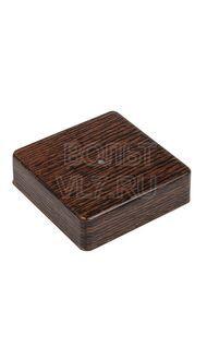 Коробка распаячная 100х100х29мм венге TPlast 50.12.005.0005