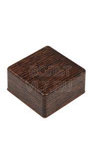 Коробка распаячная 100х100х50мм венге TPlast 50.12.006.0005