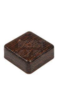 Коробка распаячная 75х75х28мм венге TPlast 50.12.004.0005