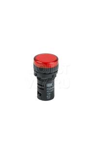 Лампа сигнальная красная 230В AC/DC AD-22DS ИЭК BLS10-ADDS-230-K04