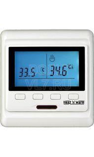 Терморегулятор сенс. в/у 3,6кВт датчик пола воздуха (анти лед) крем Grand Meyer HW500