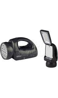 Фонарь светодиодный прожектор 12 LED + 18 LED аккум ТРОФИ TSP12