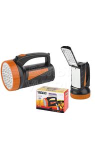 Фонарь светодиодный прожектор 19 LED + 18 LED аккум ТРОФИ TSP19