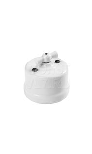 Переключатель 1кл. пластик белый Bironi В1-201-21