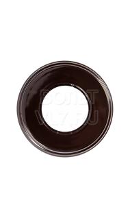 Рамка 1м пластик коричневая Bironi BF1-610-22