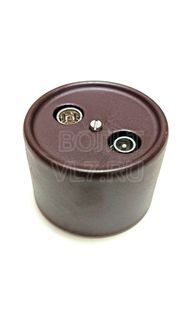 Розетка TV/Radio коричневая пластик Bironi B1-304-01
