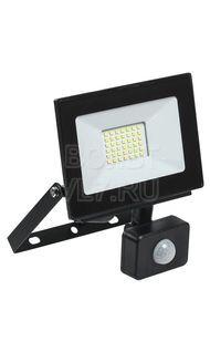 Прожектор СДО-06 30Вт черный с ДД IP54 6500K ИЭК LPDO602-30-65-K02