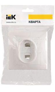 Розетка компьютерная+телефон белая КВАРТА ИЭК EIK10-K01-DM