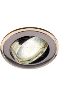 Светильник литой поворот. двойной контур MR16 черный металл/золото ЭРА KL22А GU/G