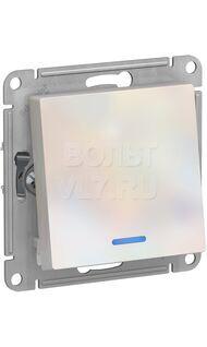 Выкл. 1кл. с подсвет. жемчуг  AtlasDesign Schneider ATN000413