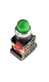 Кнопка ABLFP-22 зеленый d22 неон/230 1з+1р TDM SQ0704-0006