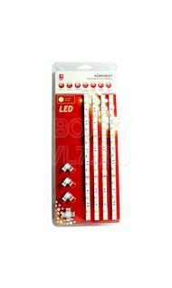 Комплект светодиодная лента + драйвер хол. 7.2 Вт/м 12 В IP20 EKF fls-set-50-50-30-20-4x0.3m-w