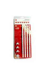 Комплект светодиодная лента + драйвер тепл. 7.2 Вт/м 12 В IP20 EKF fls-set-50-50-30-20-4x0.3m-ww