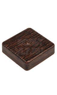Коробка распаячная 80x80x20мм венге TPlast 50.12.001.0005