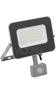 Прожектор СДО-07 30Вт серый с ДД IP44 6500K ИЭК LPDO702-30-K03