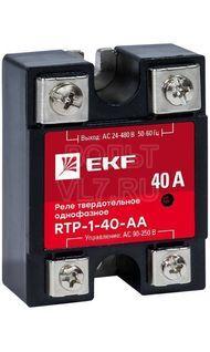 Реле твердотельное однофазное RTP-40-AA PROxima EKF rtp-1-40-aa