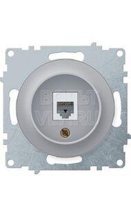 Розетка компьютерная RJ45 серый Florence OneKeyElectro 1E20701302