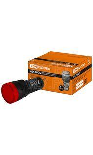 Лампа сигнальная AD-16DS красная 230В TDM SQ0702-0071